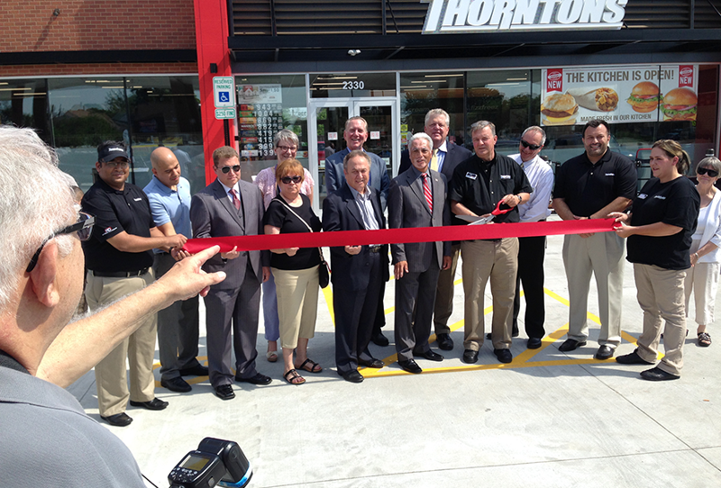 Thorntons convenience store ribbon cutting
