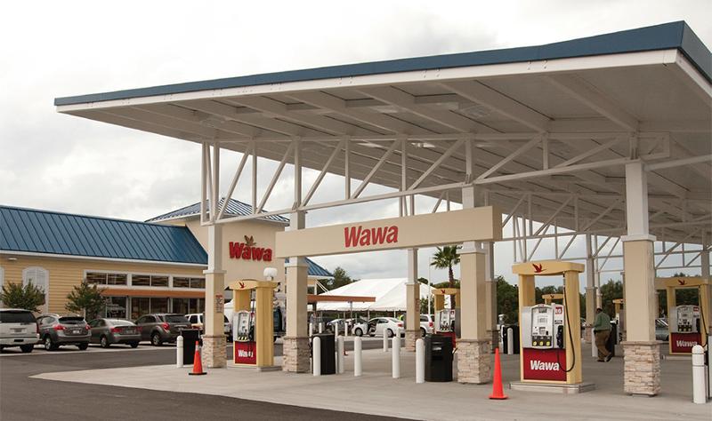 Wawa fuel canopy