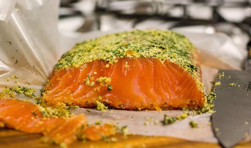 marijuana-crusted salmon