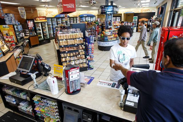 Chevron Extramile convenience store exterior