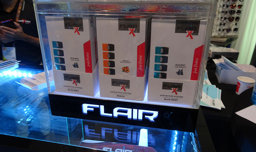 flair vapor products on counter