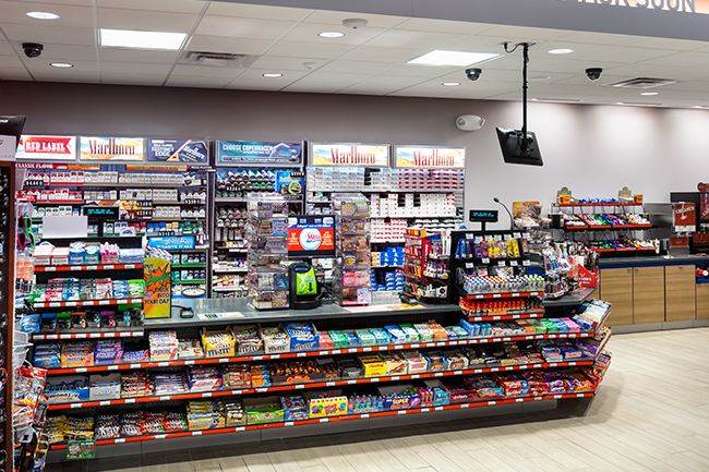Murphy Express convenience store tour inside lighting
