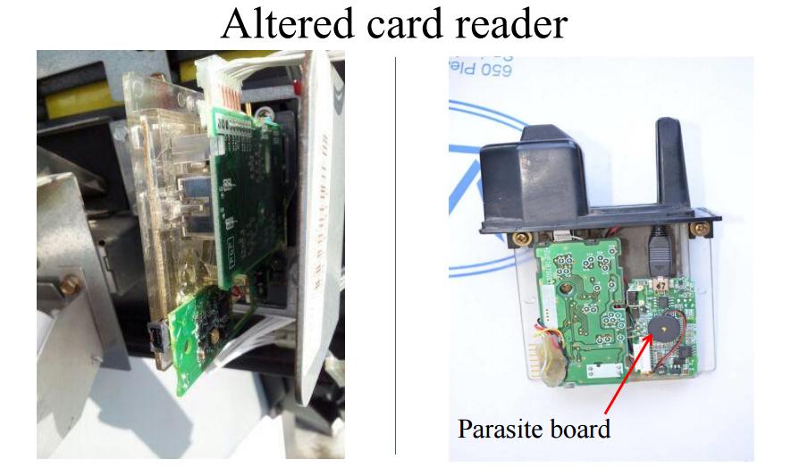 altered credit-card reader