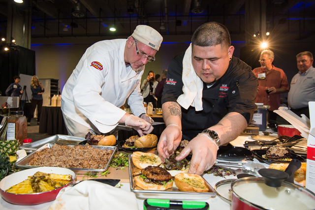 Culinary competition: Katzie Guy-Hamilton and Herschel Walker