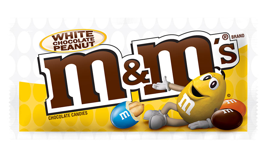 m&ms white chocolate bar