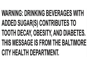 Baltimore sugary-drink warning