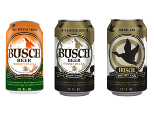 Busch Beer Welcomes Fall With Hunting-Themed 'Trophy Cans'