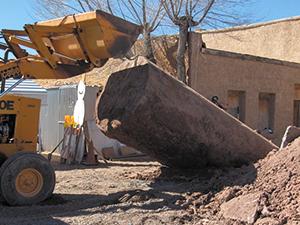 digging up underground storage tank