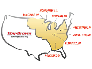 Eby-Brown service map