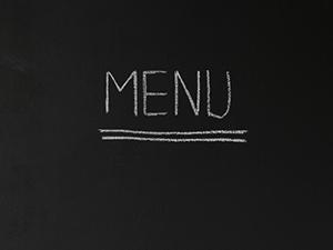 breakfast menu board