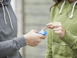 minors smoking cigarettes