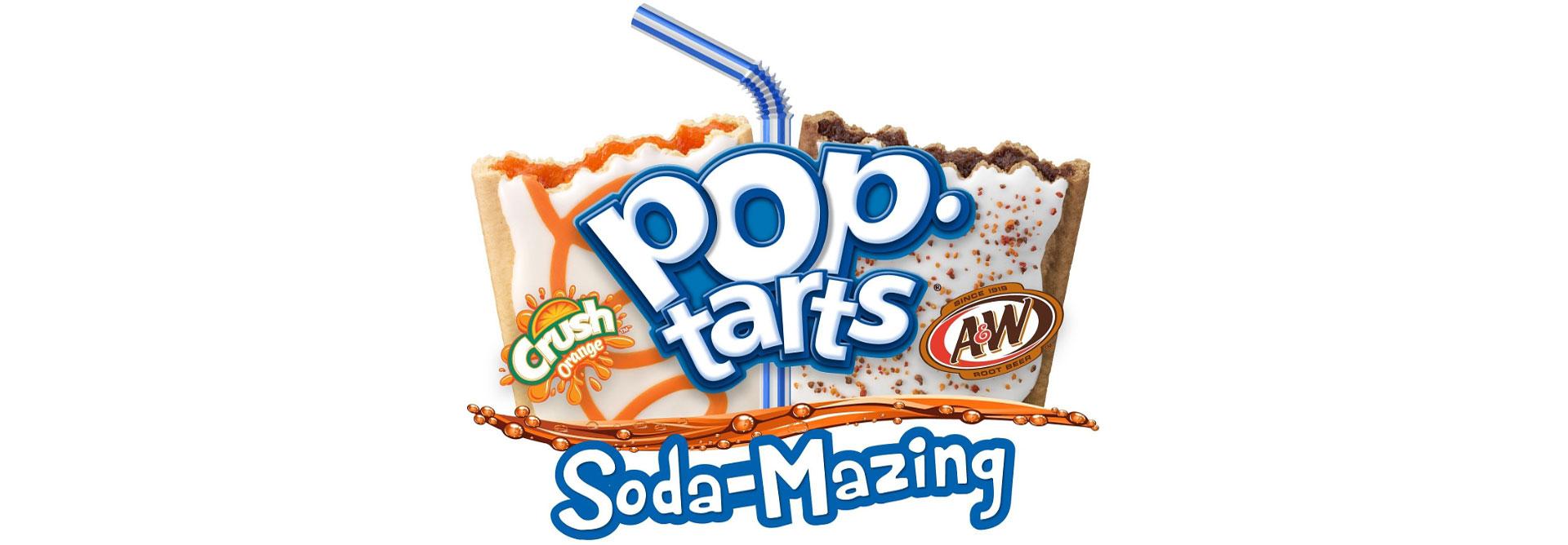 Kellogg's Pop Tarts A&W Root Beer Orange Crush