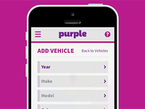 The Purple on-demand fuel delivery app