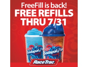 RaceTrac Sodapalooza FreeFill 2015 foodservice fountain dispensed beverages (CSP Daily News / Convenience Stores / Gas Stations)