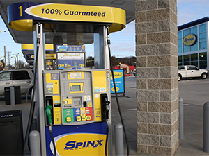 Spinx convenience store gas pump