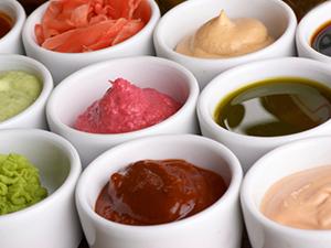 variety sauces