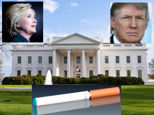 Clinton Trump vaping