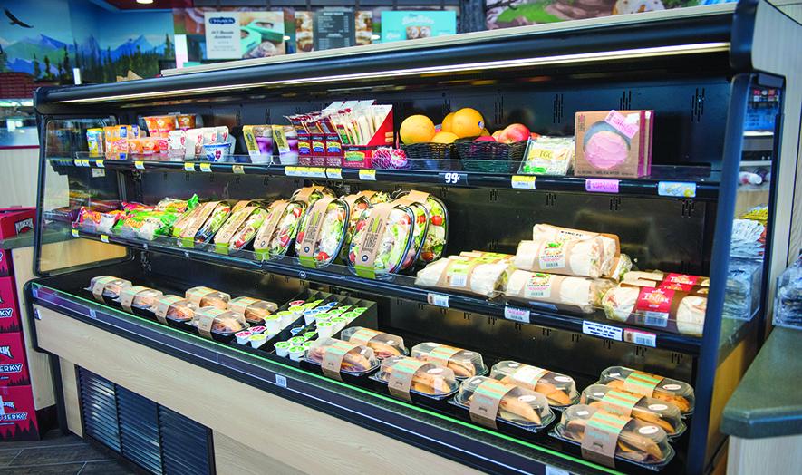 Maverik convenience store sandwich cooler