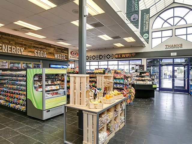 Space Age Convenience store fresh food case