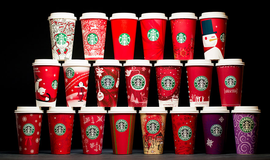 starbucks holiday 20 years of cups