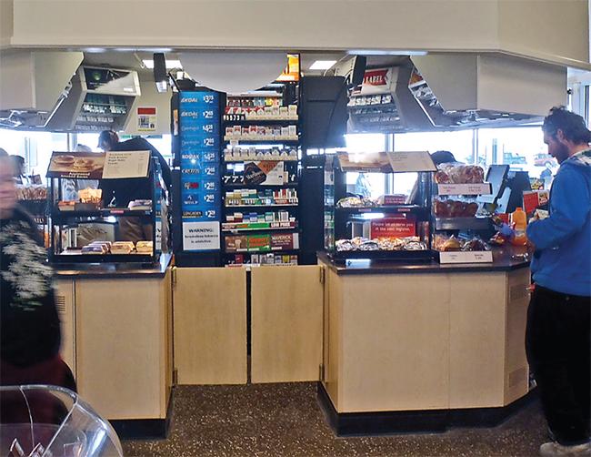 Wawa convenience store new checkout counter