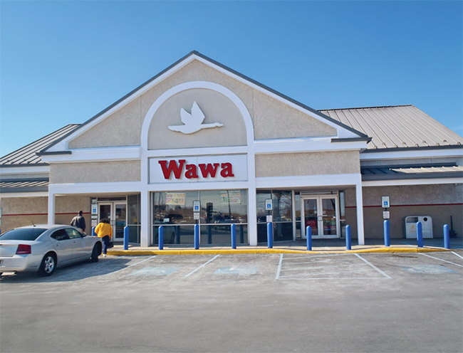 Wawa convenience store new exterior