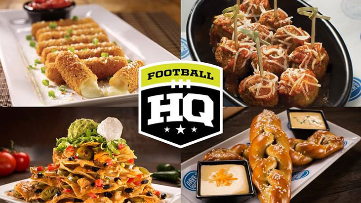 dave busters food football