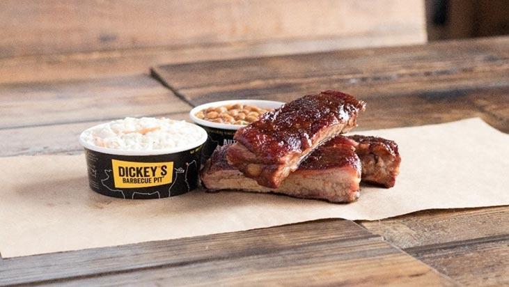 dickeys bbq pit food ribs