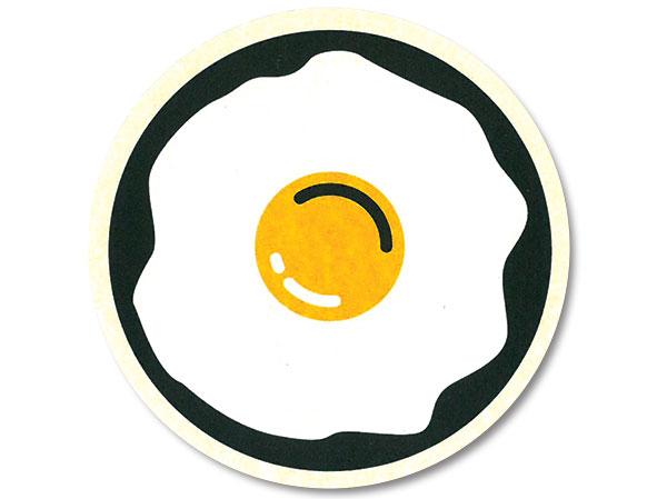 egg drink coaster
