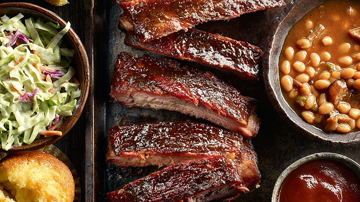 famous daves ribs tray sides