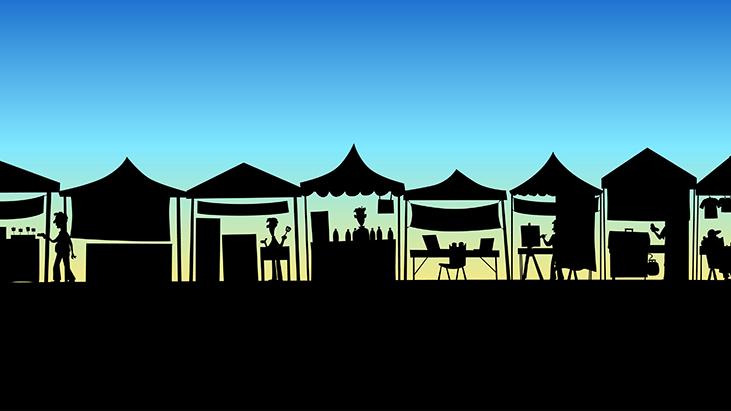 festival shadow setup
