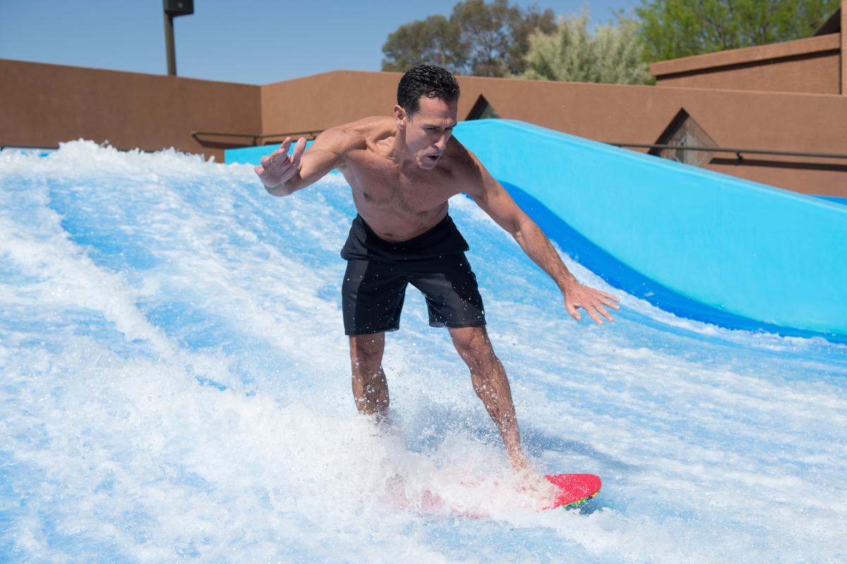 Flowrider Surfing Bodyboarding