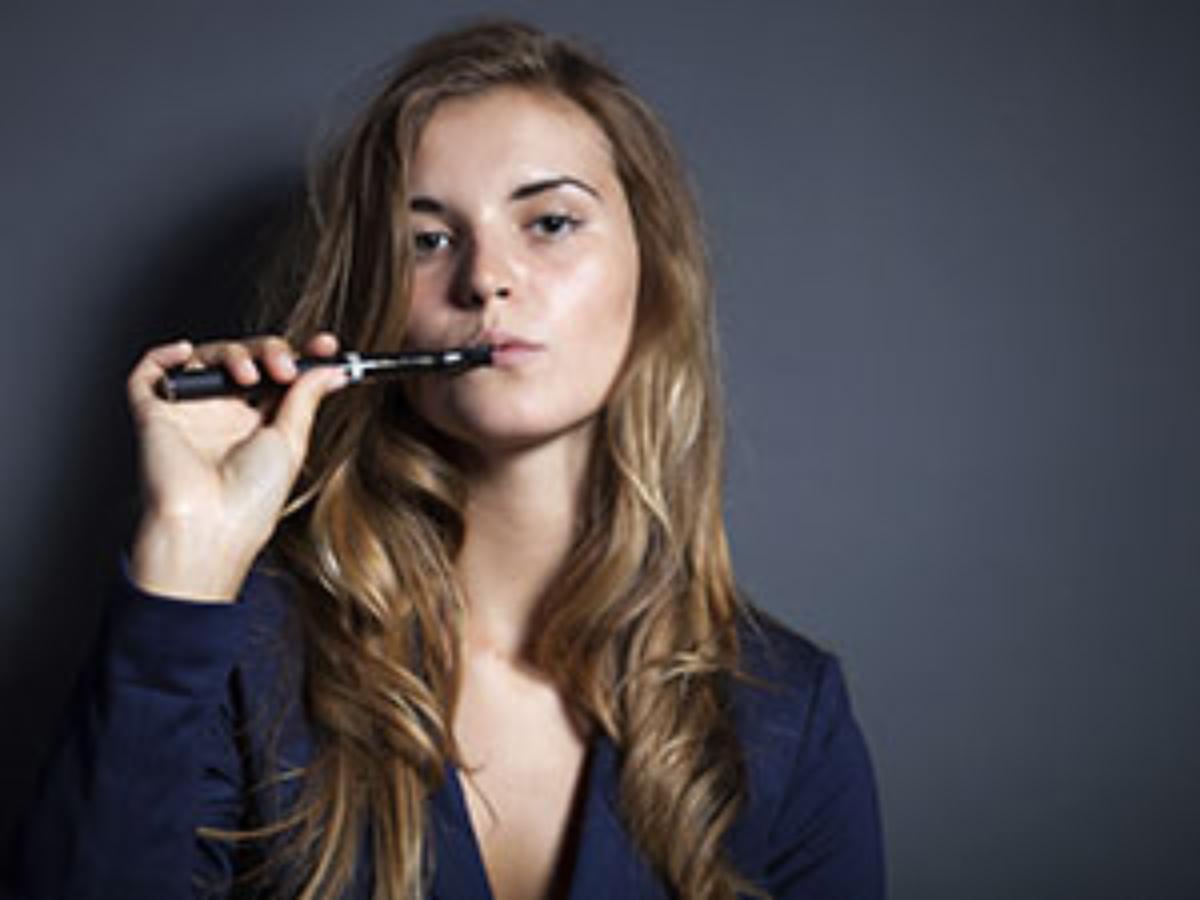 e cigarette woman