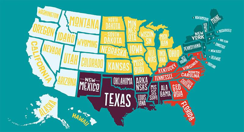 50 states college dining