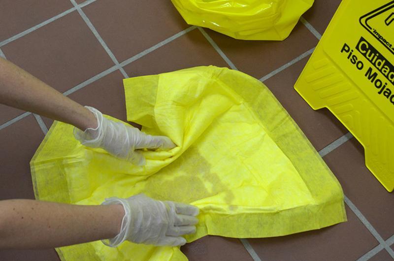 spill pad wet floor