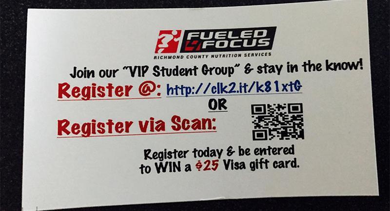 vip student texting card
