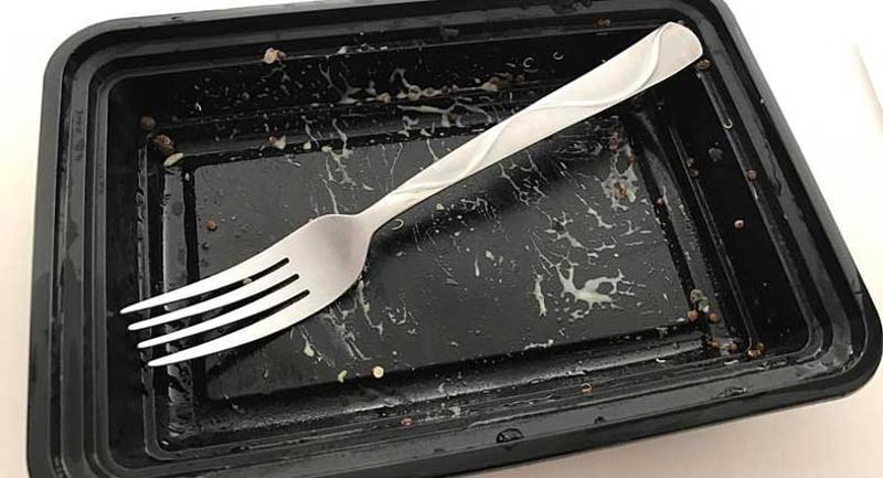 black tray fork