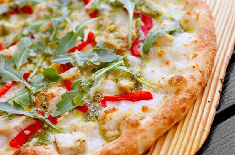 blaze chicken pesto pizza