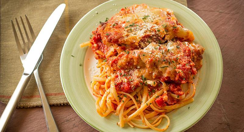 chicken parmesan linguine
