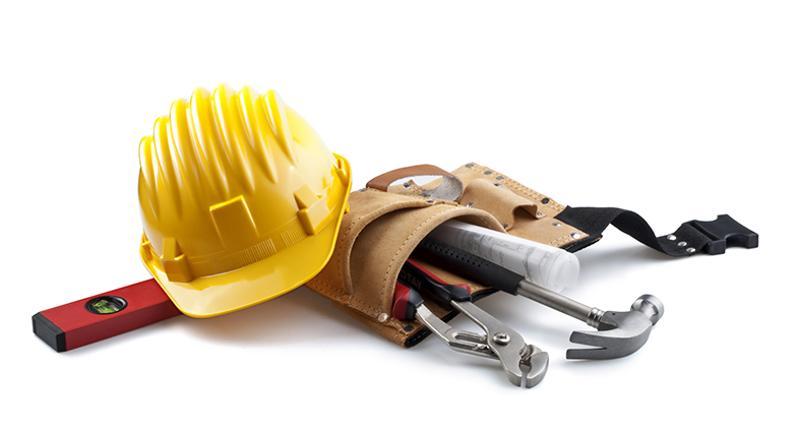 construction helmet tools