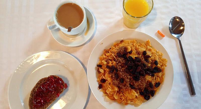 continental breakfast spread