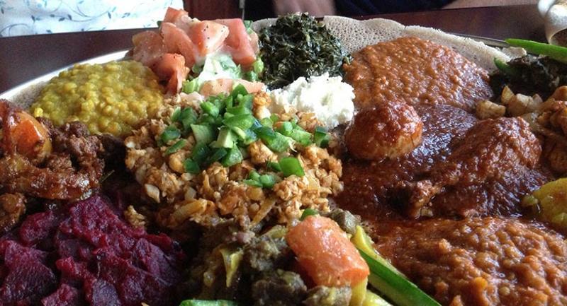 ethiopian african food plate