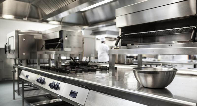 empty kitchen equipment