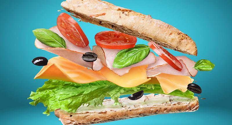 falling sandwich ingredients