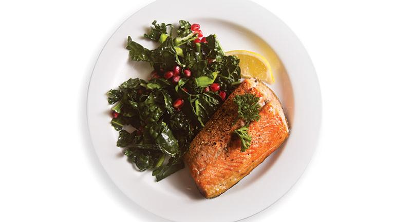 fish and kale