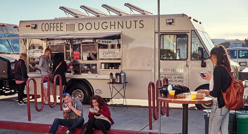 food truck coffee donut