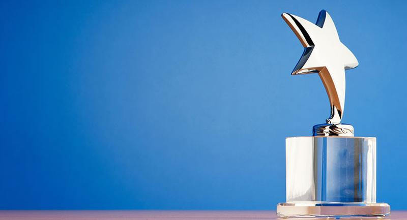 gold star prize trophy