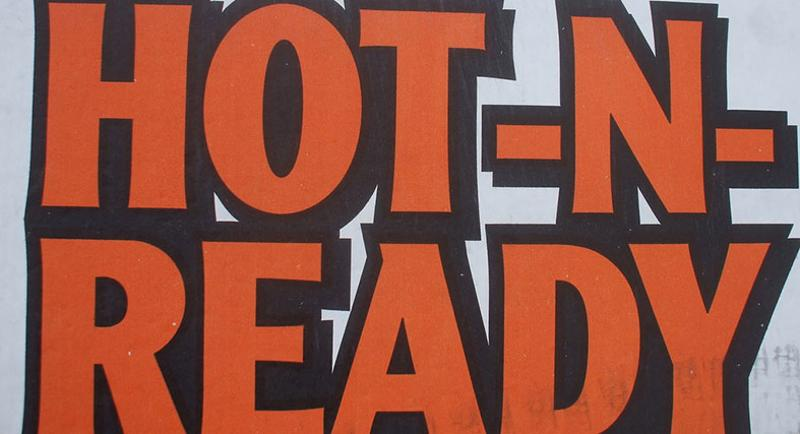 hot and ready sign
