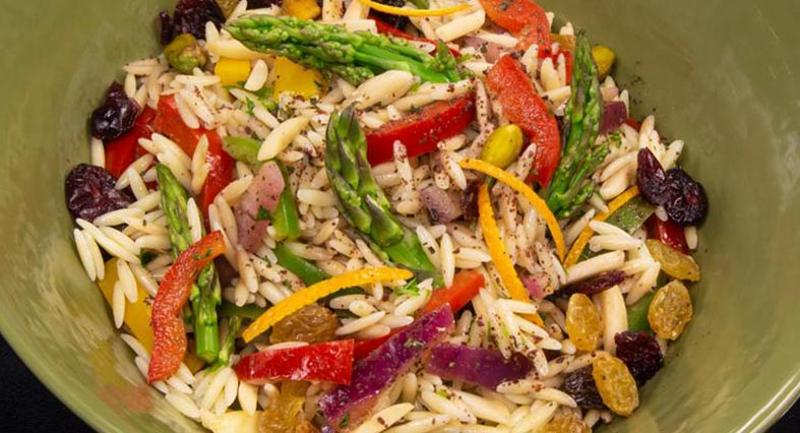Jeweled orzo salad