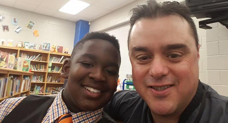Joe Urban and Greenville County Schools student